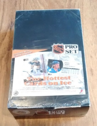 1991-92 Pro Set English Series 1 Hockey Box