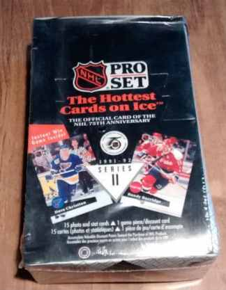 1991-92 Pro Set English Series 2 Hockey Box