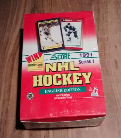 1991-92-Score English Series NHL Hockey Box