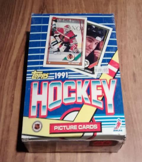 1991 Topps Hockey Card Pack Box