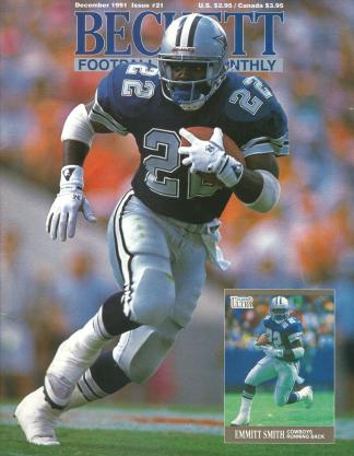 #21 December 1991-Emmitt Smith Football Becketts