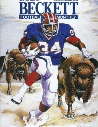 #25 April 1992-Randall Cunningham Football Becketts
