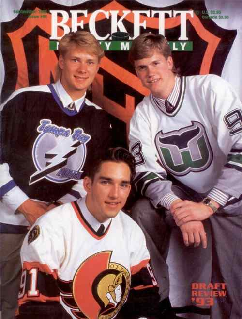 #35 September 1993-Daigle/Pronger/Graton Hockey Beckett