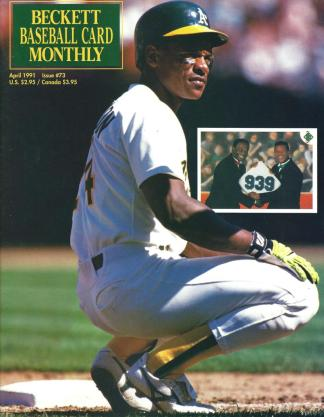 #73 April 1991-Rickey Henderson Baseball Becketts