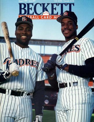 #77 August 1991-Fred McGriff/Tony Gwynn Baseball Becketts