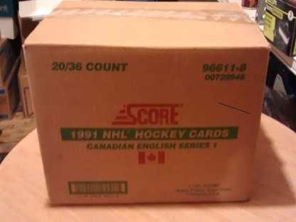 1991-92 Score Hockey English Series 1 Box Case