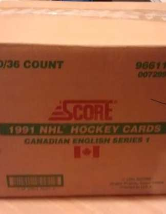 1991-92 Score Hockey English Series 1 Box Case