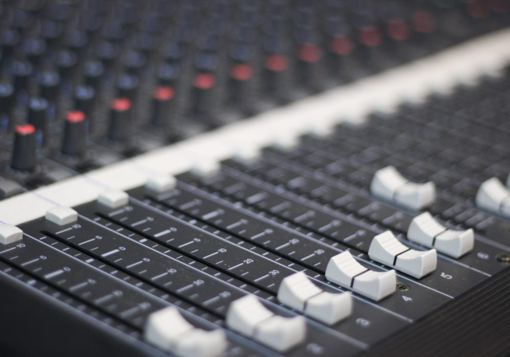 Audio mixing console faders