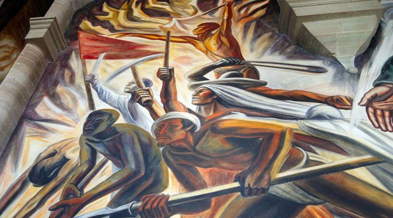 La Guerra de Independencia. Mural en el Museo de la Alhóndiga en Guanajuato.