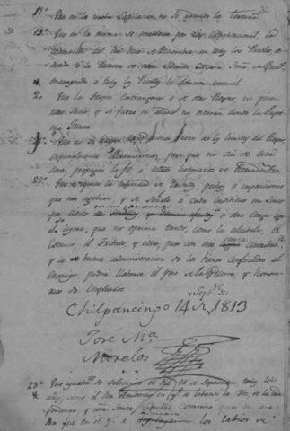 Sentimientos de la Nación, Congreso de Chilpancingo