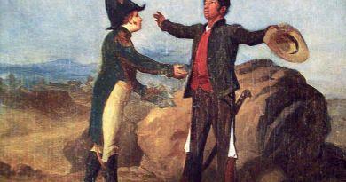 Acatempan: Óleo sobre tela de 1870, Román Sagredo, Museo Nacional de Historia, INAH