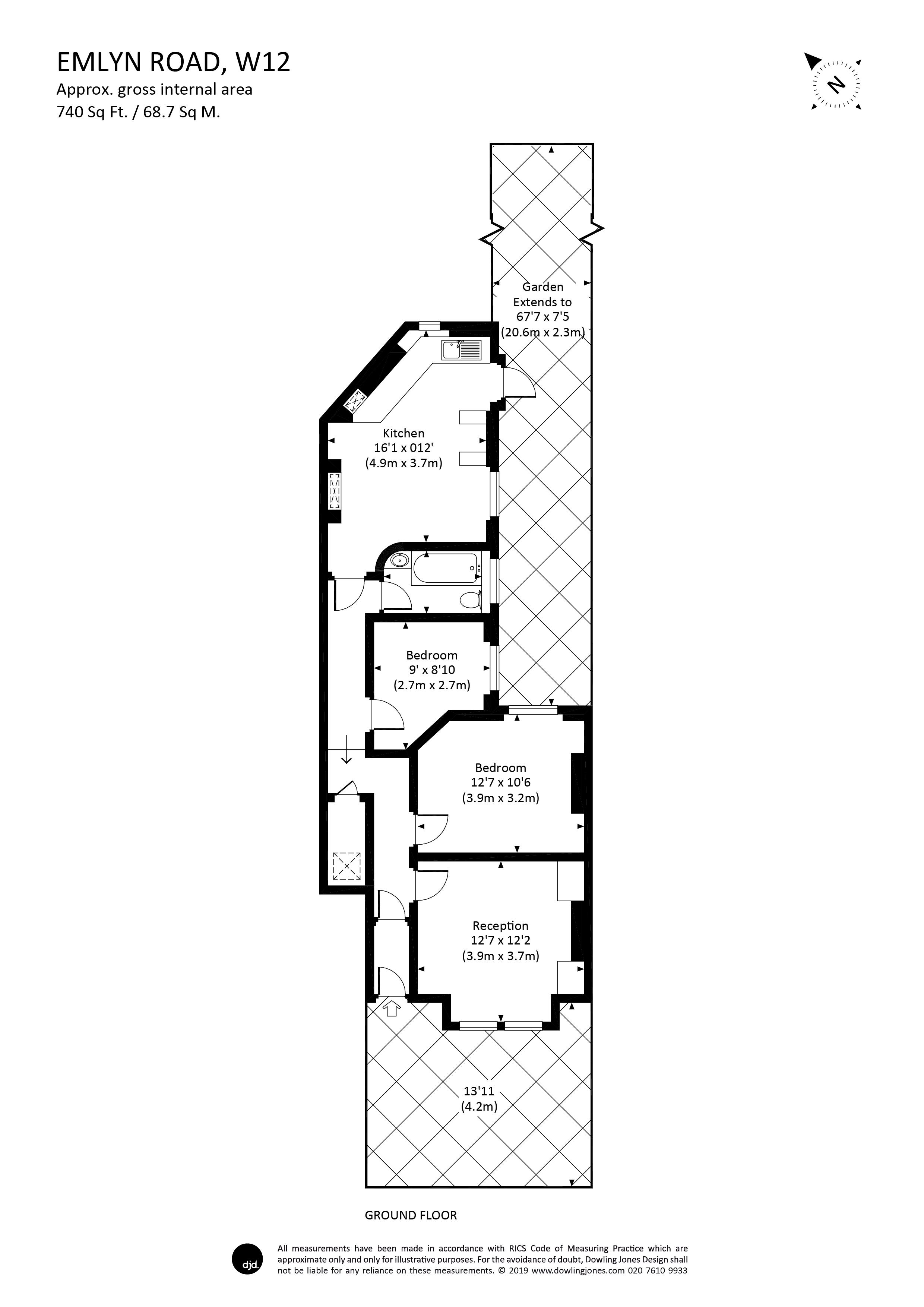2 Bedroom Property For Sale In Emlyn Road Shepherds Bush