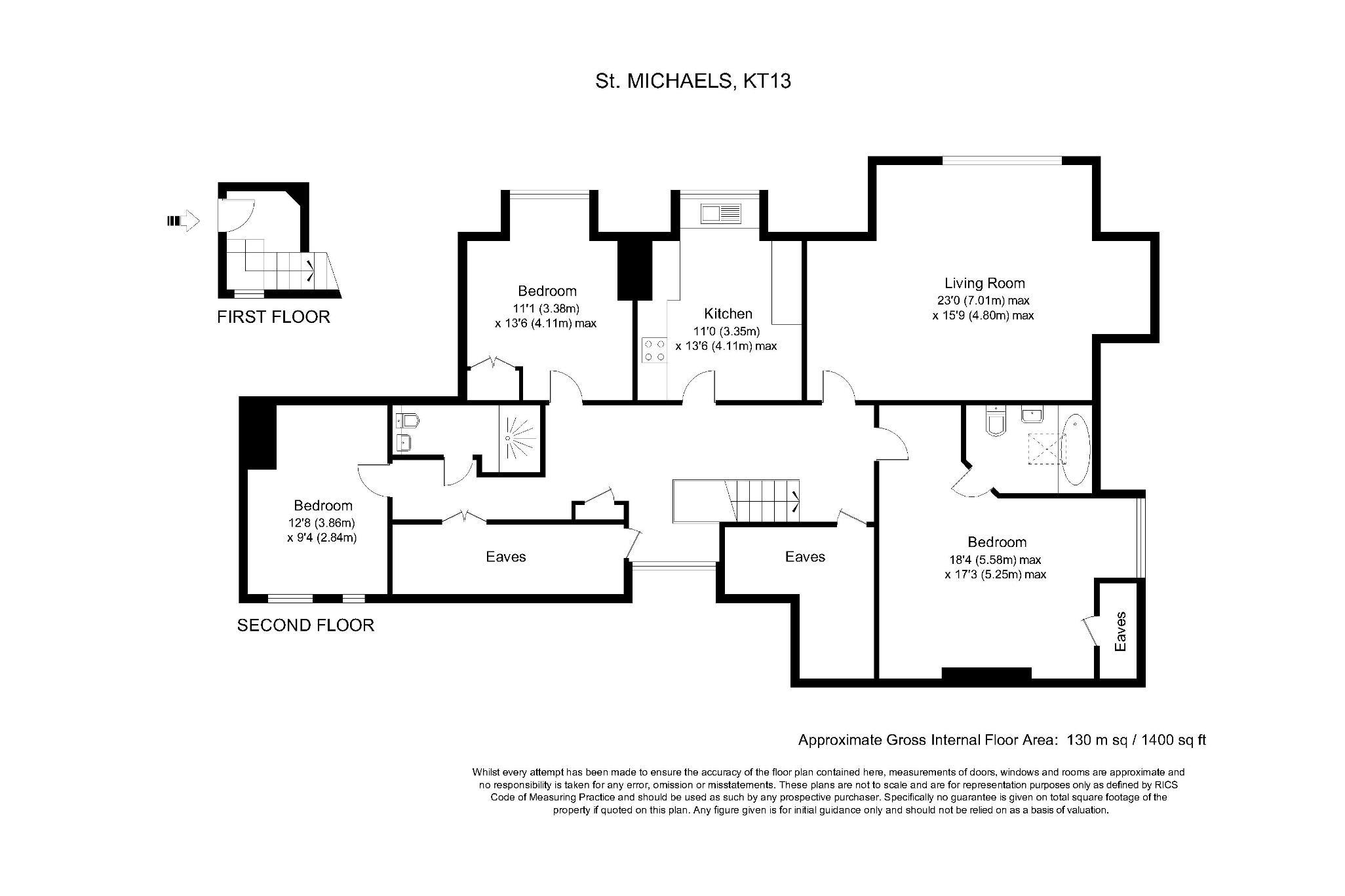 3 Bedroom Property To Rent In Oatlands Chase Weybridge