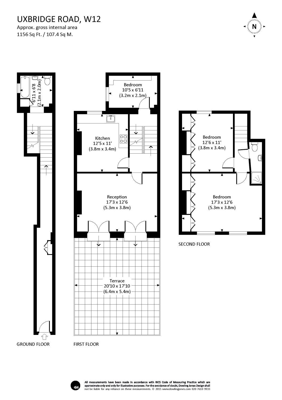 3 Bedroom Property To Rent In Uxbridge Road Shepherds