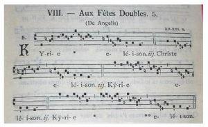 グレゴリオ聖歌の四線楽譜