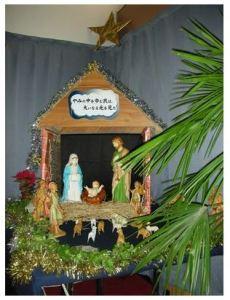 クリスマスの馬小屋