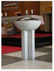 鴨池教会の洗礼盤
