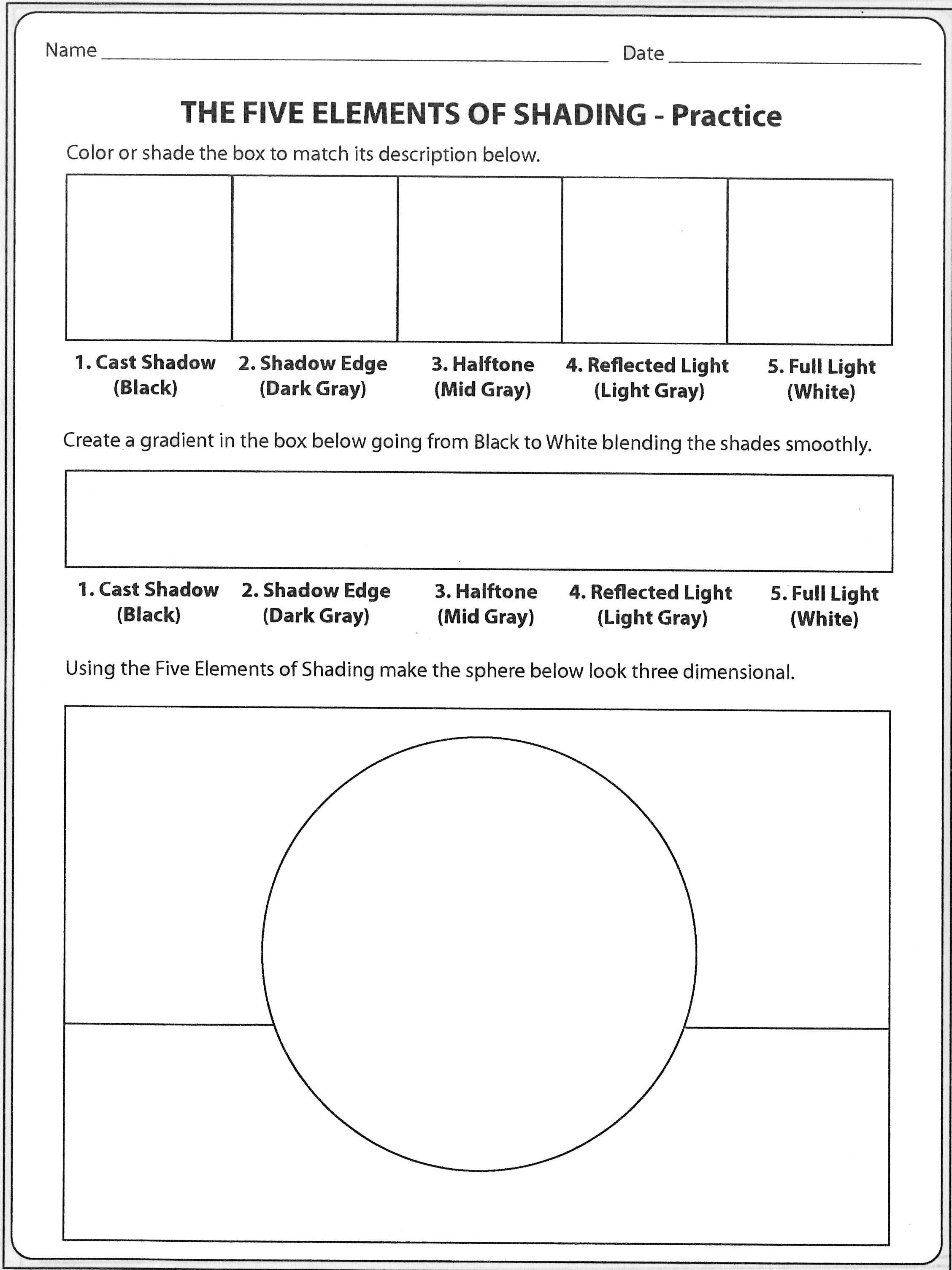 Shading Worksheet For Kids