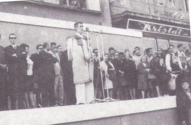 Josip Galeković Joškec na otvaranju Smotre folklora u Zagrebu 1968. godine