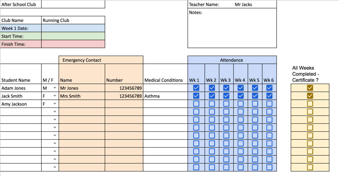 using google sheets new checkbox feature for attendance mradampe