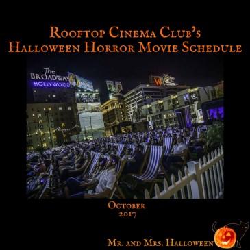 Rooftop Cinema Club Halloween Horror Movie Schedule
