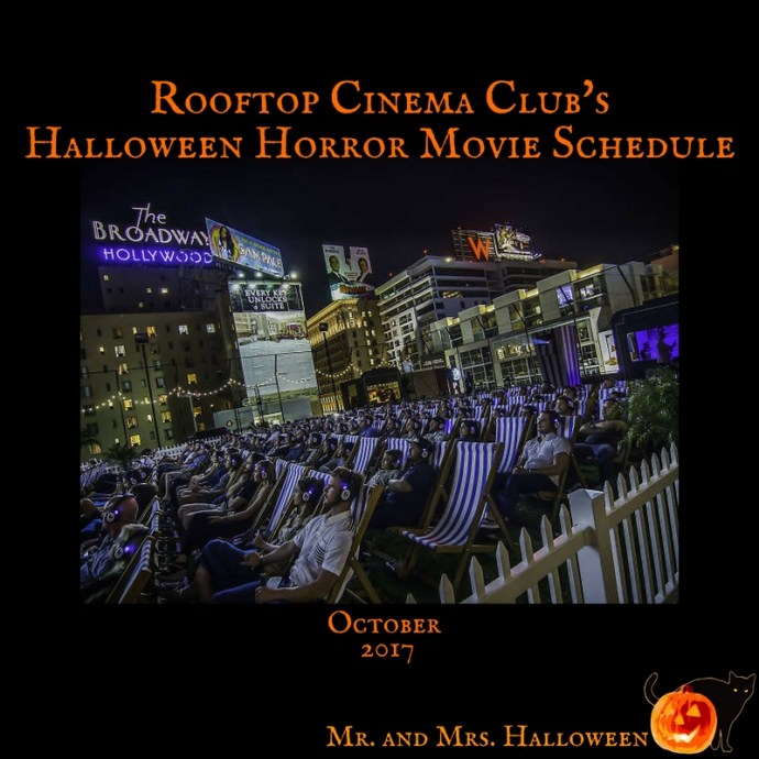 Rooftop Cinema Club Halloween Horror Movie Schedule