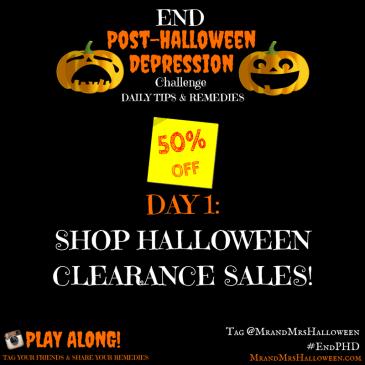 Post-Halloween Depression Halloween Sales Clearance