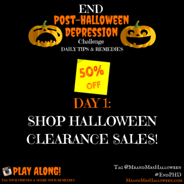 Post-Halloween Depression Halloween Sales Clearance