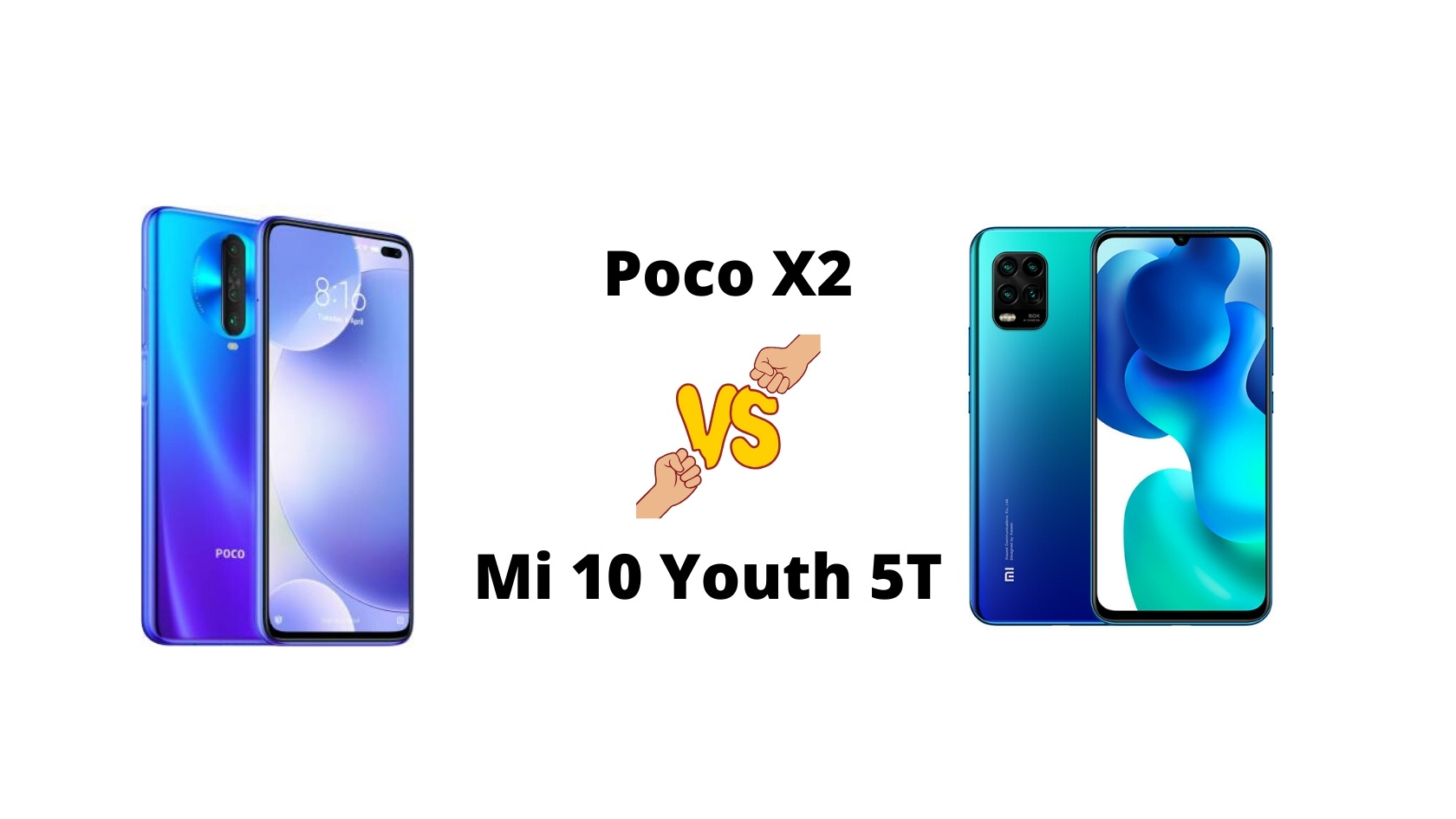 Poco X2 vs Mi 10 Youth 5G