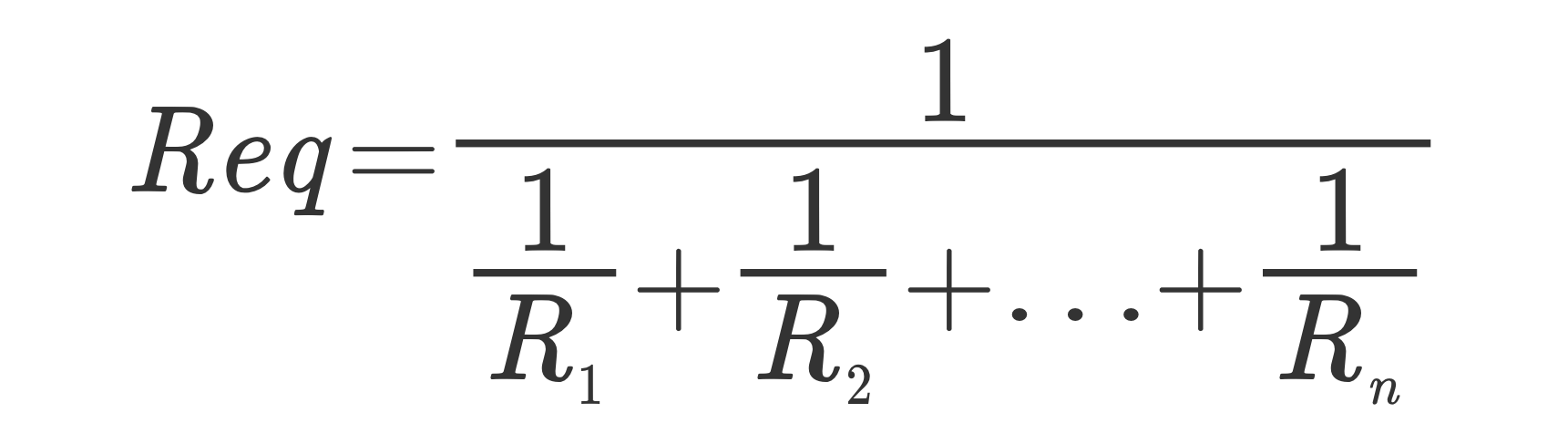 Equivalent resistance parallel circuits