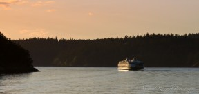 sunset washington state ferry