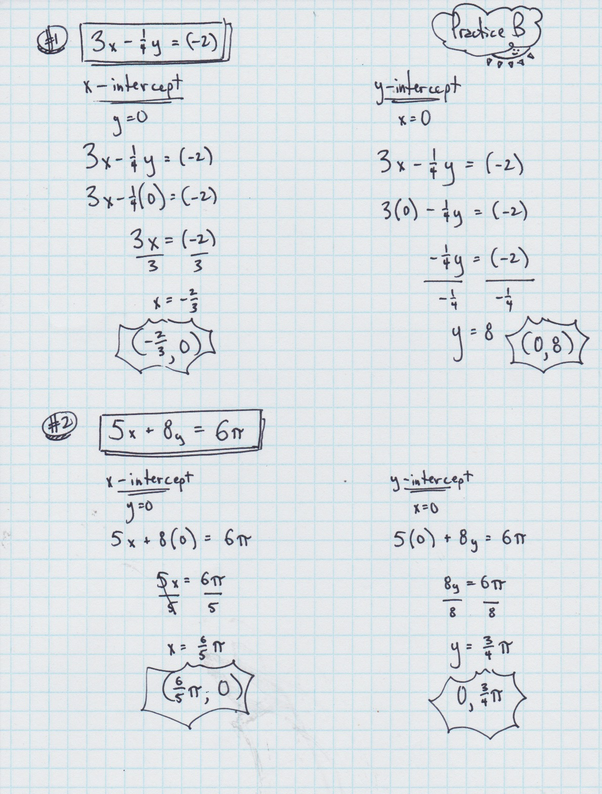 Yesterday S Work Unit 3 Linear Functions