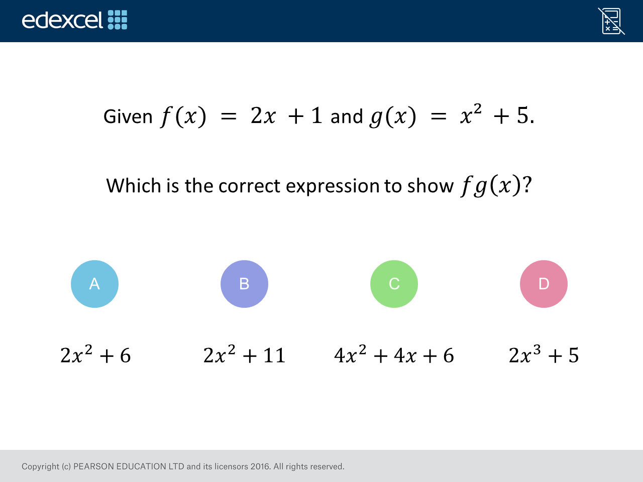 Composite Functions Higher Gcse Maths Question Of The