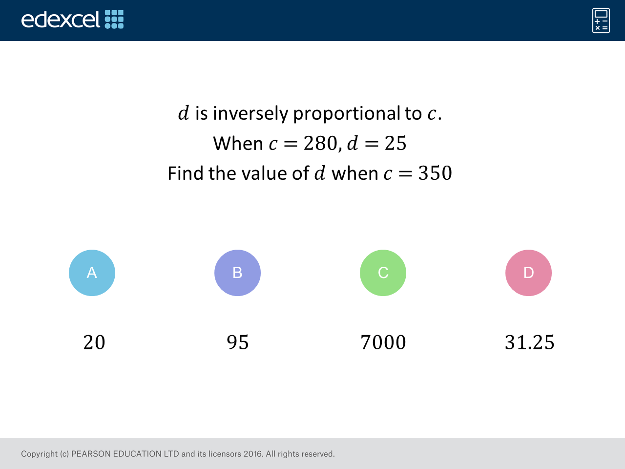Inverse Proportion Higher Gcse Maths Question Of The Week On Mr Barton Maths