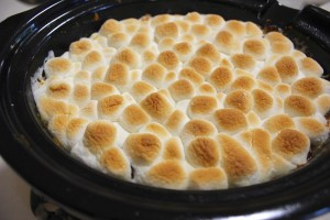 Slow Cooker Sweet Potato Casserole With Marshmallows