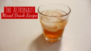 Astronaut Mixed Drink With Cranberry