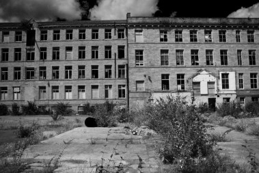 Midland mill outside black and white 2