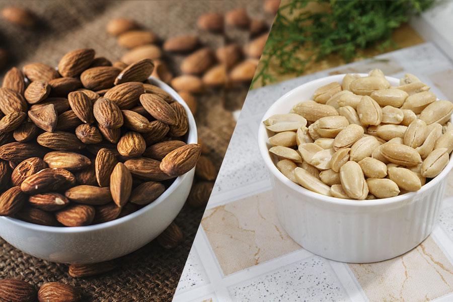 Meilleur pour la santé : amande ou cacahuète