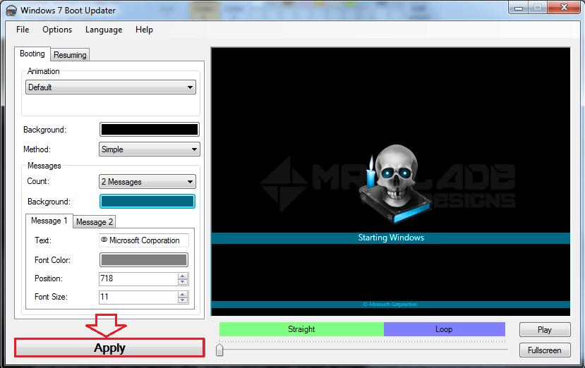 Change Windows Boot Animation: Windows 7 Boot Updater   Mr Blade Designs