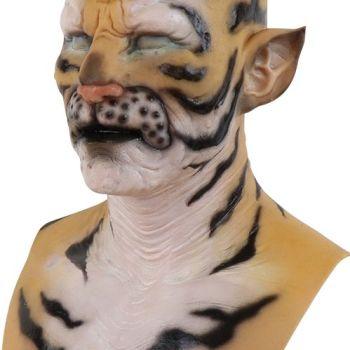 breast silicone masquerade mask tiger