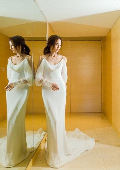 Ning Chang in Vera Wang Bridal Fall 2017-1