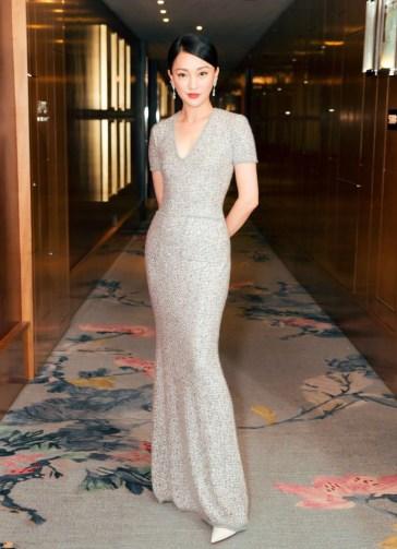 Zhou Xun in Chanel Pre-Fall 2017