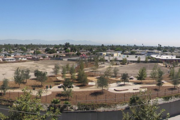 Panoramic- Compton Creek Natural Park at George Washington Elementary