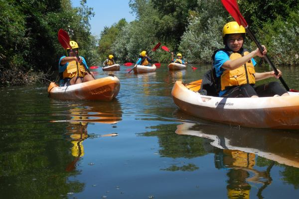 Kayaks in L.A. River Recreation Zone - Sepulveda Basin