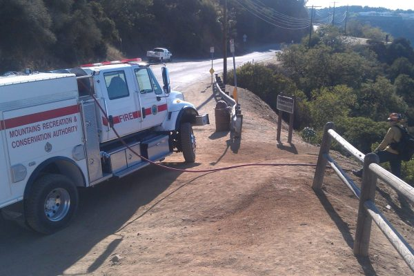 Fire patrol on Mulholland Drive