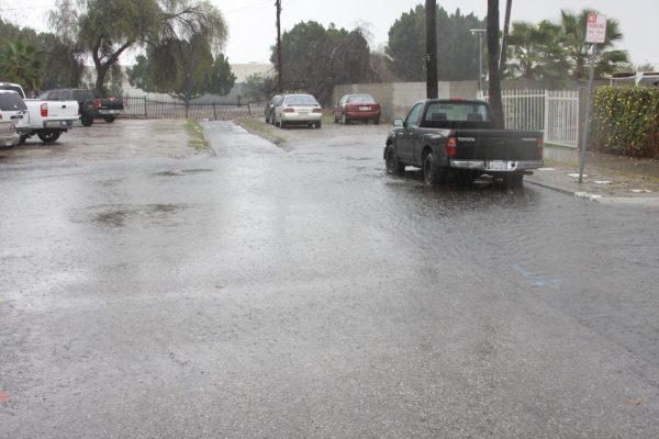 El Dorado Avenue, street end during storm