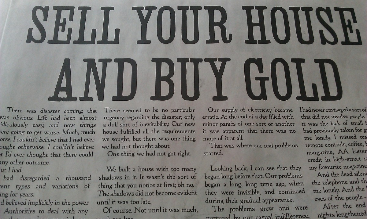 Short Story: Sell Your House and Buy Gold by Stanley Donwood
