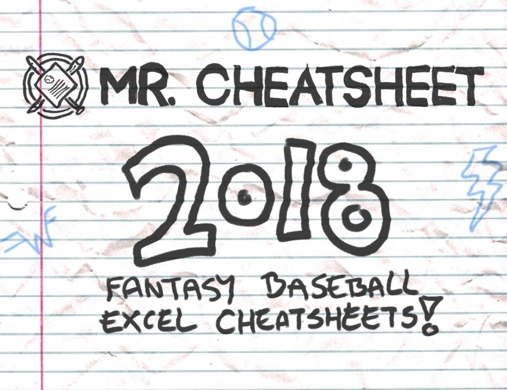 Fantasy Baseball Excel Cheatsheets Roto And Points