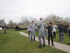 Viking games - chainmail race!