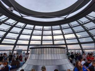 The glass dome of the Bundestag